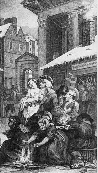 Tom King's Coffee House by William Hogarth c1650