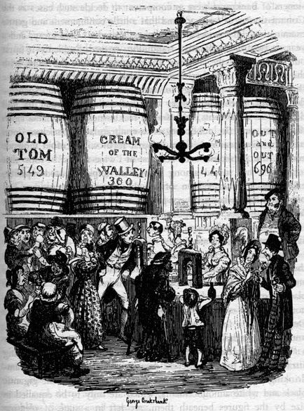 The Gin Shop by George Cruikshank.
