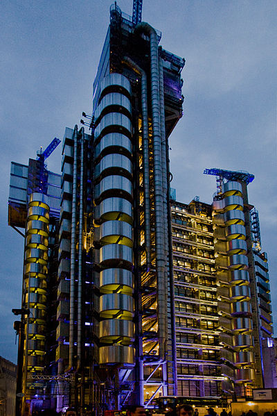 Lloyds building of London - a.k.a. the Inside-Out Building.