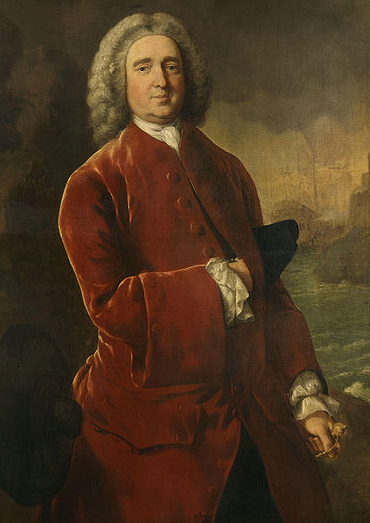 "Vice Admiral Edward ""Old Grog"" Vernon sporting his infamous grogram coat. Painted by Thomas Gainsborough c.1753 - Wiki Commons"