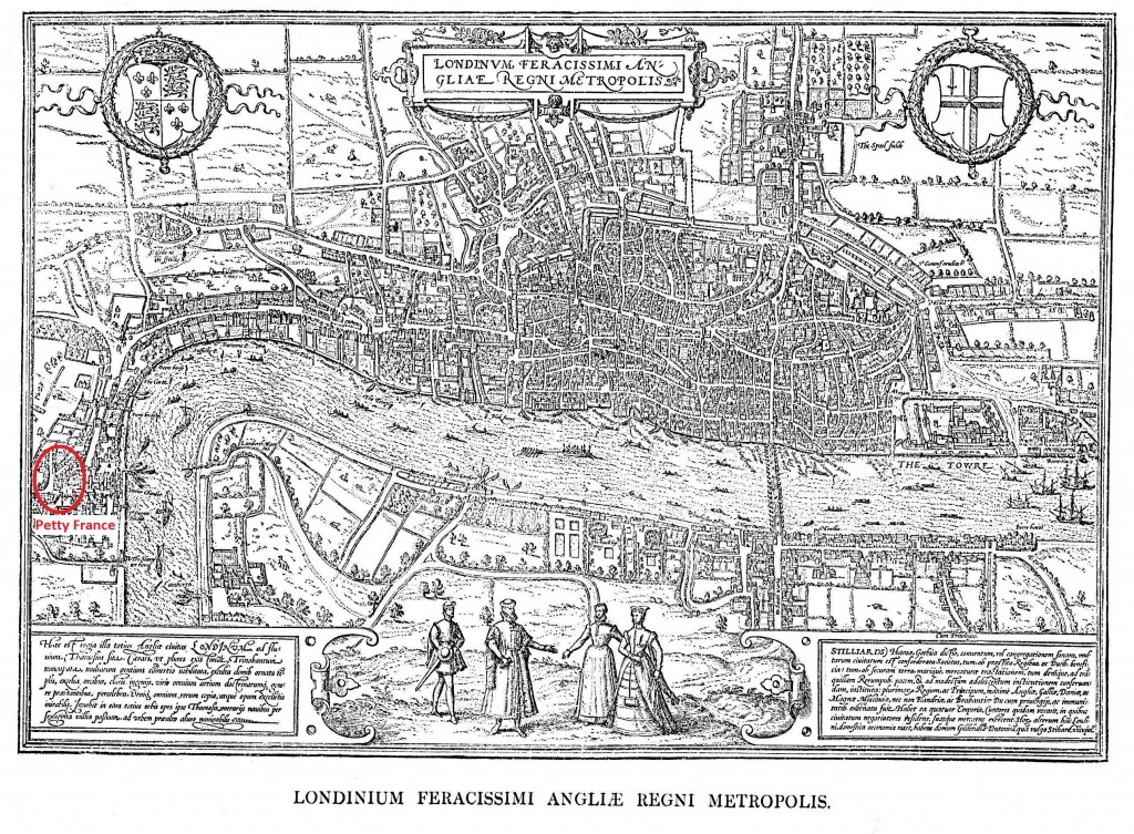 Hoefnagel's Map of London, 1572