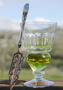 Absinthe glass and spoon - courtesy Eric Litton