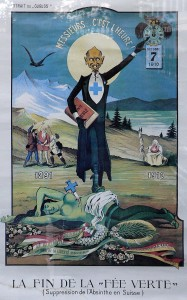 The death of The Green Fairy in Switzerland, 7th October 1910