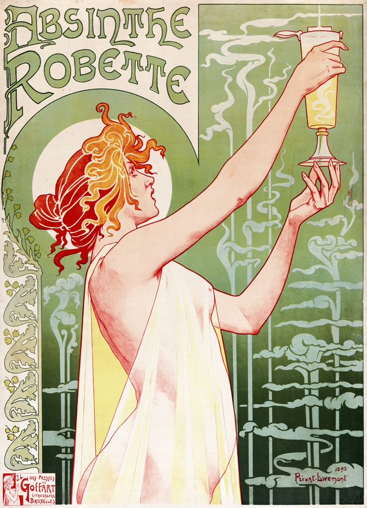 Advert for Absinthe Robette showing