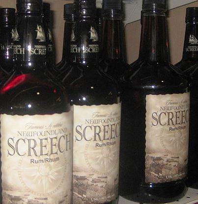 Bottles of Newfoundland Screech still on sale today