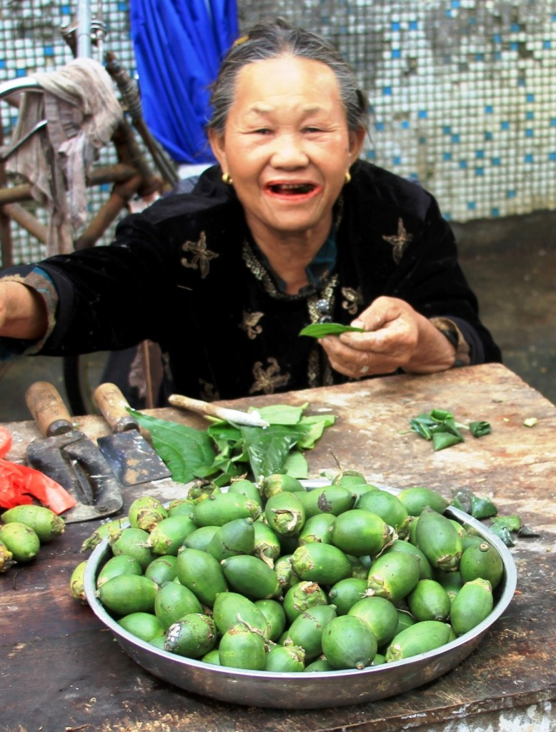 Areca nut vendor on the island of Hainan, China.