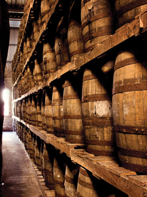 Barrels of El Dorado rum maturing in warehouses, Guyana - c/o Demerara Distillers Ltd
