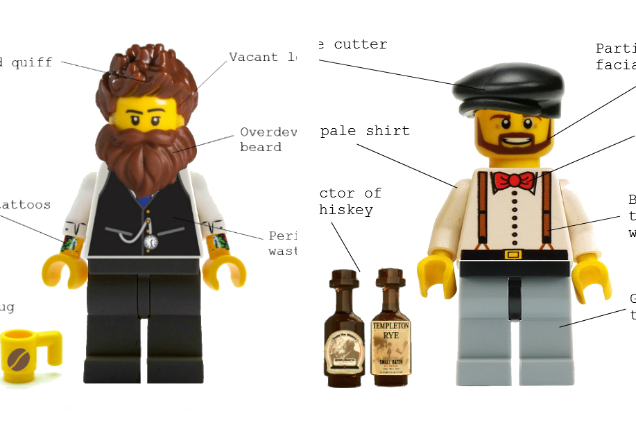 Hipster Lego Image