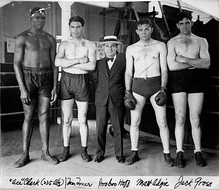 Max Boo Boo Hoff with four of his fighters - BoxRec Encyclopaedia