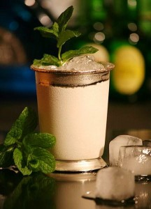 Classic Mint Julep, served in a frosted silver or pewter cup - c/o Silberbecher