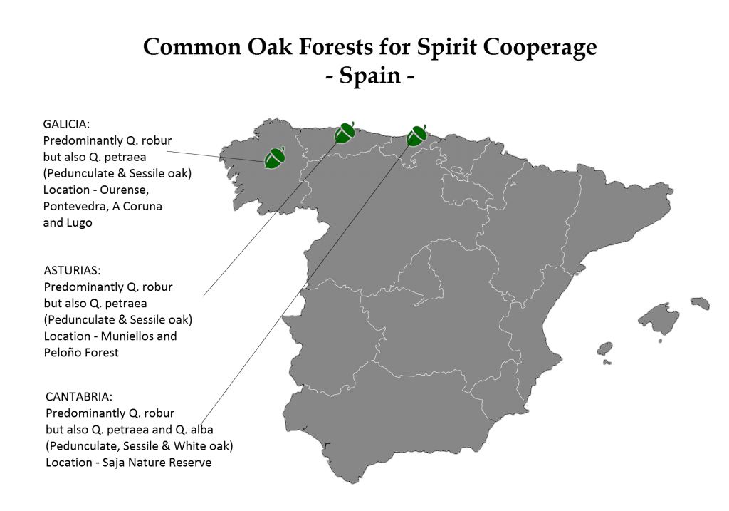 Common American oak forests for spirit cooperage [authors own image made with freevectormaps.com]