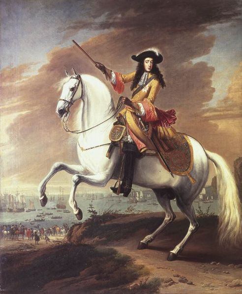 Portrait of William III landing at Brixham, Torbay during the Bloodless Revolution,1688