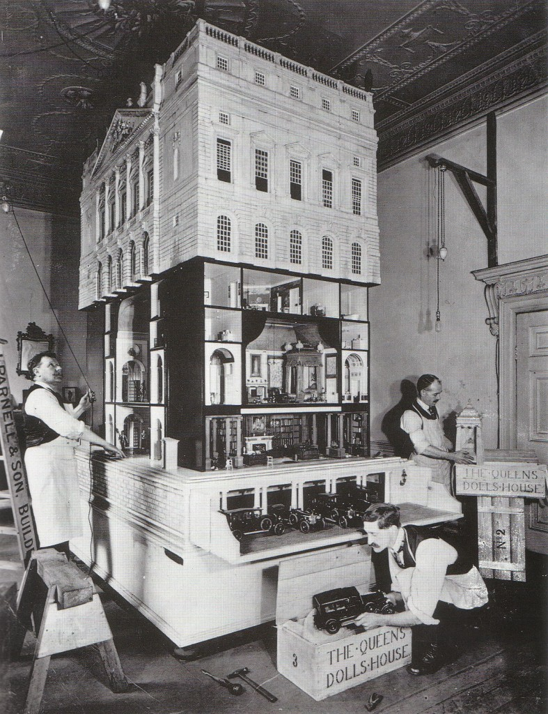 Queen Mary's dolls house being assembled - c/o Royal Collection (click to enlarge).