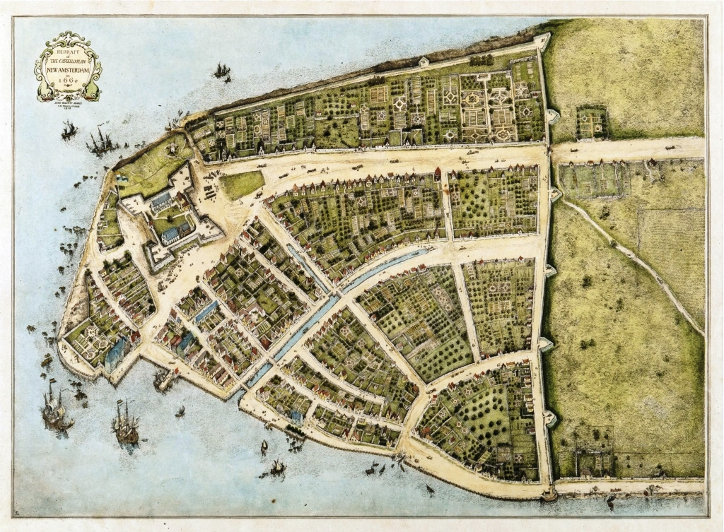 Redraft of the Castello Plan New Amsterdam from 1660 - c/o New-York Historical Society Library, Maps Collection