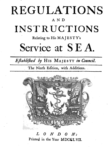 Regulations and Instructions Relating to His Majesty's Service at Sea - Great Britain. Privy Council - Google Books.