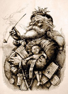 Depiction of Santa Claus by Thomas Nast. First published in Harper's Weekly, 1863
