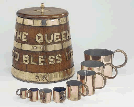 Grog tub and imperial measuring cups